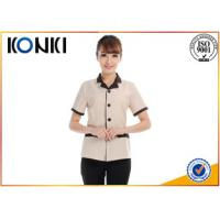 Wholesale Summer Stylish Hotel Restaurant Staff Uniforms Short Sleeve With Any Size from china suppliers