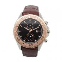 Wholesale Men's Dual Time Multifunction Wrist Watch With Leather Band Luxury from china suppliers