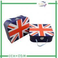 Wholesale Custom Clothing Packaging Rigid Suitcase Shaped With Metal Lock / Ribbon Handle from china suppliers