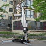 Wholesale Outdoor safety telescopic work platform single mast climbing work platform from china suppliers