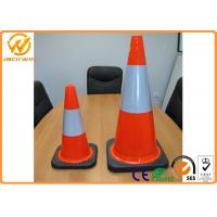Wholesale Orange PVC Traffic Safety Cones With Heavy Duty Rubber Base 75cm Height from china suppliers