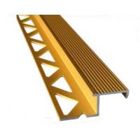 Wholesale Aluminum Tile Trim / Aluminum Extrusion Profile with Golden Anodized Color from china suppliers