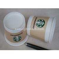 Wholesale Starbucks Ice Cream Paper Cups , Paper Ice Cream Cups With Lids For Frozen Yogurt from china suppliers