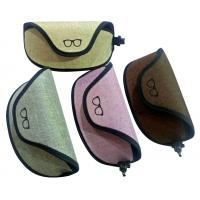 Buy cheap 2018 newest large size  unisex oxford fabric soft sunglasses case with clip and pretty looks cheap  price hot selling from wholesalers