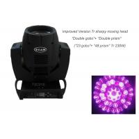 Wholesale 7r 230W Beam Moving Head Light , Double Prism 2 Gobo Wheels Movable Disco Light from china suppliers