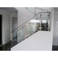 Quality Balcony Railing Glass Price m2, Stainless Steel Square Pipe Railing Design for sale