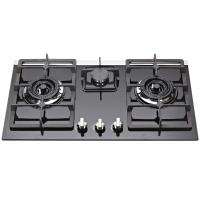 Wholesale Natural Gas Tempered Glass Top Gas Hob , Glass Top Gas Stove 3 Burner from china suppliers