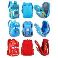 Wholesale Fashion Disney Cars Racers 3D Red Lightning McQueen Kid's School Bag Primary Backpack from china suppliers