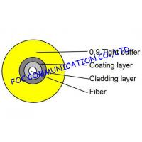 Buy cheap Bend insensitive fiber optic Tight Buffered cable 0.9mm SM or MM Suitable For Pigtails from wholesalers
