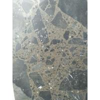 Maron Emperador Dark Quartz Stone Tiles Recyclable Feature Eco - Friendly