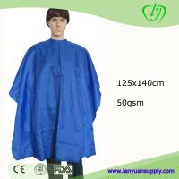 Wholesale Pure Color Hot Sale Hair Cutting Shampoo Cape for Salon/custom hair cutting cape from china suppliers