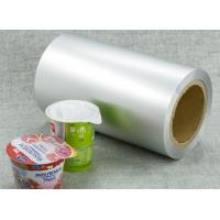 Quality printed aluminium foil used for yogurt lid for sale
