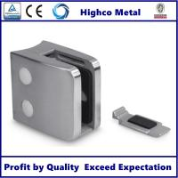Wholesale Stainless Steel Square Glass Clamp with Round Back 55x55mm Fit 8-12.76mm Glass for Staircase Glass Railing from china suppliers