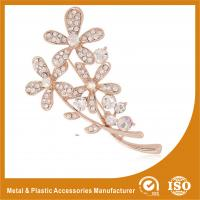 Quality Handmade Safety Pin Rhinestone Brooches For A Wedding Flower Brooches for sale