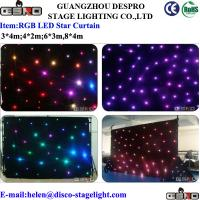Wholesale Waterproof Velvet LED Star Curtain Theatre Stage LED Backdrop Red / Blue / Yellow from china suppliers