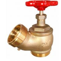 Wholesale Red Hand Wheel Single Headed Hydrant Valve , Brass Fire Fighting Landing Valve from china suppliers