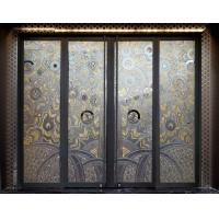 Wholesale Sliding Interior Decorative Glass Doors With 3D Carving , Laminated And Tempered from china suppliers
