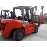 Wholesale 8T Diesel forklift  with carbin and heater with 3stage 4500mm mast  special for load timber fork spead over1200mm from china suppliers