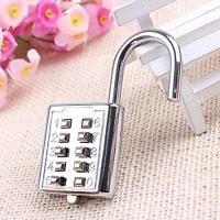 Wholesale Mini Push Button Code Resettable Combination Padlock 10 Pin Sports Locker from china suppliers