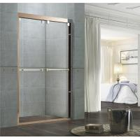 Rose Gold Sliding Glass Tub Doors / Glass Shower Enclosure Kits With Double Long Handles