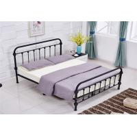 Wholesale Light Blue / Grey Full Size Modern Upholstered Beds Double With Wood Frame from china suppliers