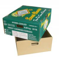 Wholesale Fresh Food Cardboard Vegetable Boxes , Fruit Shipping Boxes Custom Logo from china suppliers