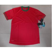 Wholesale Portugal Red Polyester L, XL, XXL Quick dry Thailand PersonalizedSoccerJerseys from china suppliers