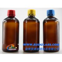 Buy cheap 500ml amber glass bottle for reagent,narrow mouth for liquids with tamper evidient caps from wholesalers