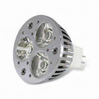 Wholesale MR16 3 x 3W LED Bulb with 437lm Luminous Flux, 50,000h Lifespan and US Original Cree Light Source from china suppliers
