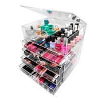 Buy cheap acrylic cosmetic organizer makeup holder with 3 4 5 6 drawers from wholesalers