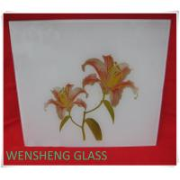 Wholesale Clear or frosted silk screen glass for interior door , shower screens from china suppliers