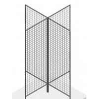 Four 1830mm × 630mm panels are connected to form a stand mesh