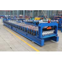 Wholesale PPGI Roofing Sheet Roll Forming Machine Step Tile Making Machine PLC control from china suppliers