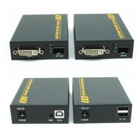 Wholesale 2km 4K DVI Fiber Extender Support RS232 Video Audio Transmitter For Screen Splicing Display from china suppliers