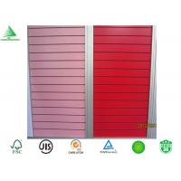 Wholesale Guanghzou manufacturer new design cheap mdf solid colour melamine slatwall from china suppliers