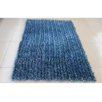 Wholesale Latex Cotton Canvas Backing Mixed Blue Polyester Shaggy Pile Rug For House Decoration from china suppliers