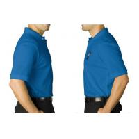 Wholesale Men's Coach Blue Short Sleeve Cool Dry Sublimation Polo Shirt Adult XS-5XL from china suppliers