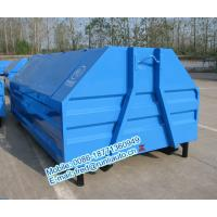 Quality Full sealed 7500 liters low price of metal hook lift bins for sale size and color can be customerized for sale