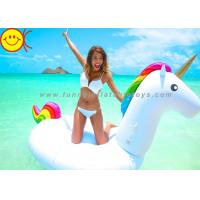 Wholesale Summer Swimming Inflatable Water Park Games 108 Inch Rideable Unicorn Pool Float from china suppliers