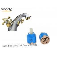 Wholesale Golden color handle and spout Brass Basin Faucet With POP-UP from china suppliers