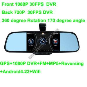 Wholesale 5.0inch Espejo retrovisor con Wifi HD dual DVR y MP5 GPS from china suppliers