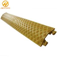 Quality Portable Yellow / Black 1 Channel Floor Cable Cover Light Duty Indoor Or Outdoor for sale