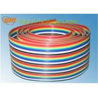 Wholesale Rainbow Color Ribbon Flat Cable / 26 Pin IDC Flat Cable 2.54 mm Pitch from china suppliers