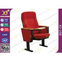 Wholesale Solid Wood Armrest Steel Leg Church Auditorium Seating Chairs , ISO9001 from china suppliers