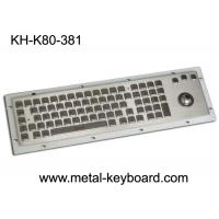 Wholesale SS Industrial Metal Keyboard With Trackball , Standard USB Or PS2 Output Support from china suppliers