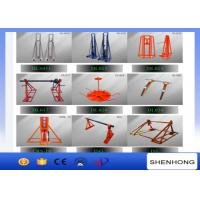 Wholesale Manual Drive Cable Drum Jacks 3T - 20T Supporting Cable Reel Stringing from china suppliers