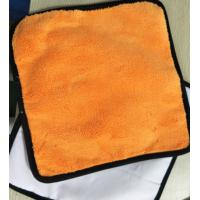 Buy cheap Microfiber 30*30cm 400gsm Orange Colorful Coral Fleece 200gsm Suede Car Cleaning Cloth from wholesalers