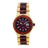 Wholesale Maple And Red Sandalwood Bewell Wood Watch / Wooden Ladies Watches from china suppliers