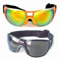 Wholesale Anti-fog Sports Goggles with Adjustable Elastic Strap, Various Colors are Available from china suppliers