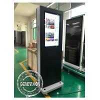 Wholesale Movable 32 Inch Win10 Advertising Standee Computer With Wheels , 1500cd / M2 from china suppliers